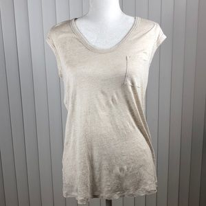 """Tommy Bahama SS Tee in cream """"M"""""""